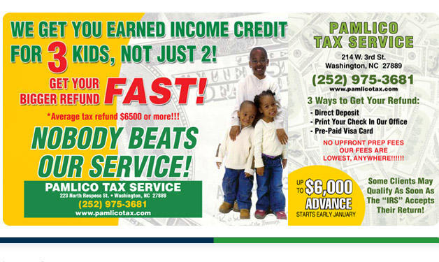 Pamlico Tax Service | Larger, Faster Advances and Refunds!